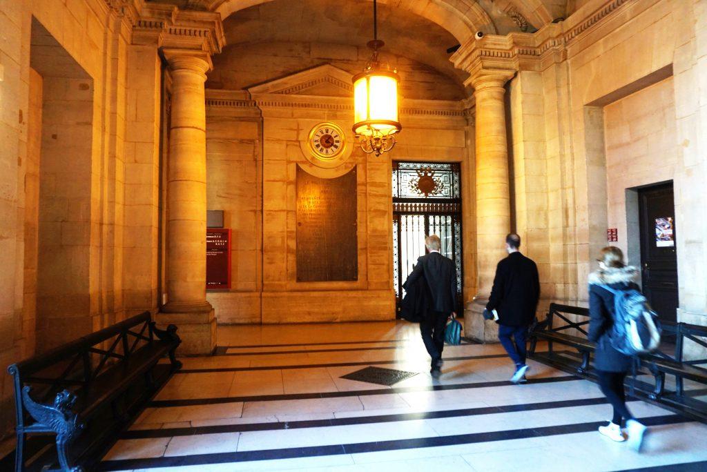 Inside atmosphere of Palais de Justice